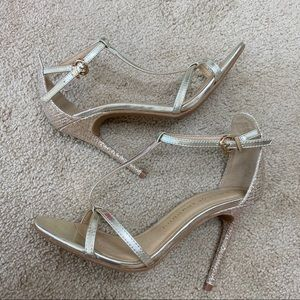 Chinese Laundry sparkly gold heels size 7.5
